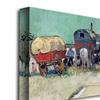 Vincent van Gogh Gypsy Encampment, Arles, 1888 Canvas Print