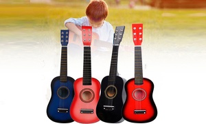 "23"" Four Colors,Pick,Strings & Kids /Beginners Acoustic Wood Guitar"