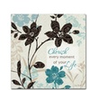 Lisa Audit Botanical Touch Quote I Canvas Print