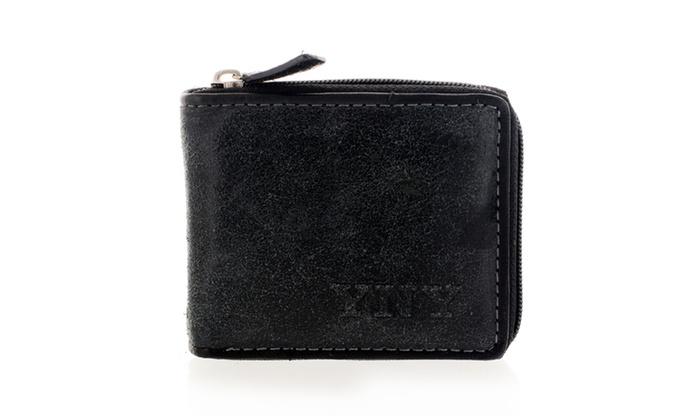 Men's Fashion Zip-around Wallet WLT-DC332BK in Black