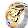 Gold Plated Stainless Steel Oval Chain Link Ring