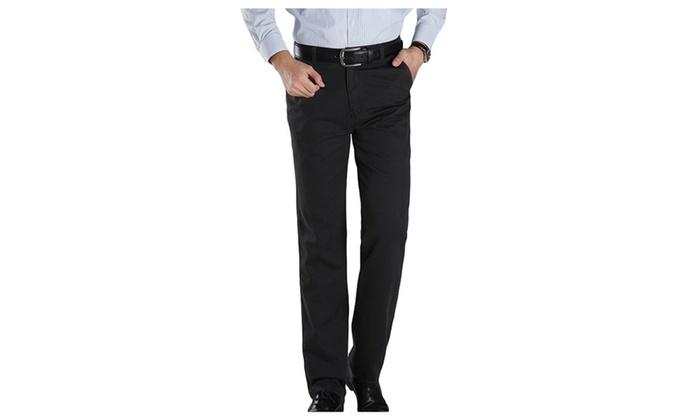 Men's Slim Causal Dressv Pants