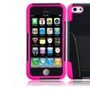 Insten Black Hot Pink Hard Hybrid Case W/stand For Iphone 5c/5s/se