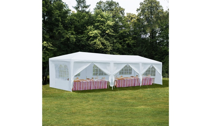 White Party Canopy Tent 10' x 30' or 10' x 20' | Groupon