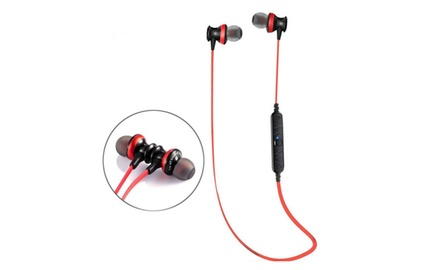 magneto wearable bluetooth noise isolating headphones groupon. Black Bedroom Furniture Sets. Home Design Ideas