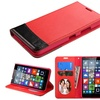Insten Flip Leather Case For Lumia 640 Metro T-mobile Red Black