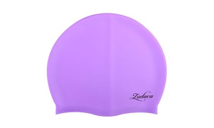 Zodaca Elastic Durable Adult Unisex Swimming Hat Swim Cap Purple