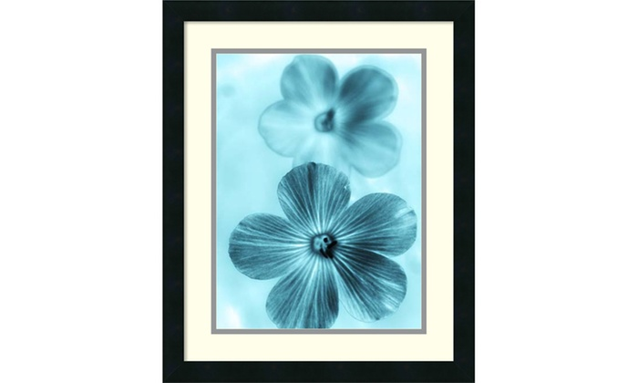 Teton Parchment Forget Me Not Blue I Framed Art Print