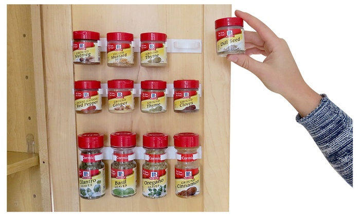 Evelots Multi Use Spice Gripper Clip Strips Set Of 3 Or 6