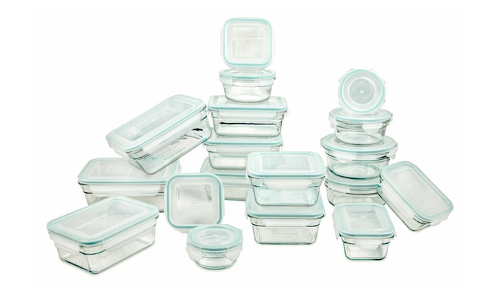 Nice Glasslock Storage Containers 36pc Assorted Set~Microwave U0026 Oven Safe