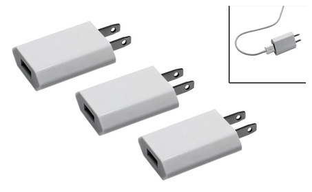 Pack of 3 USB Wall Charger for iPhone, Android Smartphones & Tablets 02ea03f5-7b79-40cd-8b49-75459ff91ab9