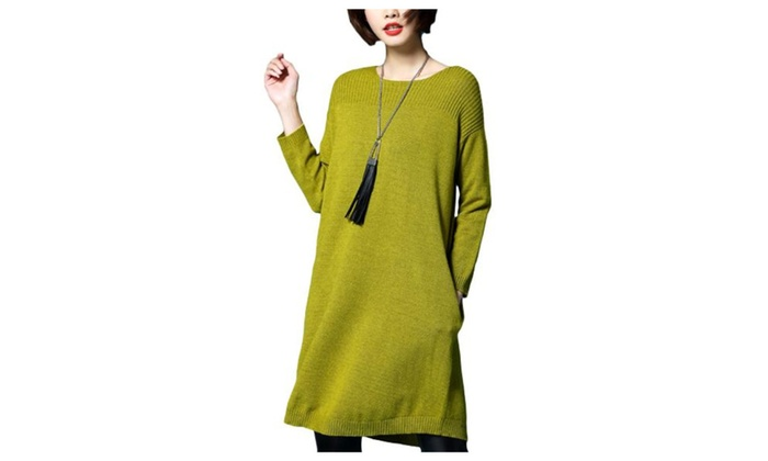 Women's Simple Loose Fit Casual Pullovers