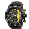 Citizen Men's Eco-Drive 'Primo' Black and Yellow Chronograph Watch