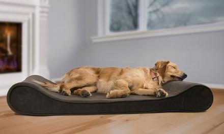 Furhaven Memory Foam Orthopedic Contoured Pet Lounger Dog Bed