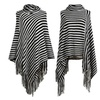 Women's Pullover Batwing Sleeves Sweater Poncho Cape Cloak Tassels
