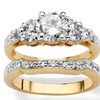 2 Piece 2.01 TCW Cubic Zirconia Bridal Ring Set