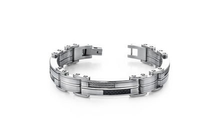 Mens Sophisticated & Stylish Heavy Duty Stainless Steel Bracelet Sb3262