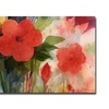 Sheila Golden Red Blossoms Canvas Print