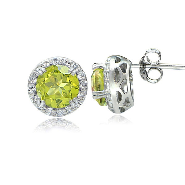 deb6d275cf5ecf Up To 67% Off on Peridot and White Topaz Halo ... | Groupon Goods