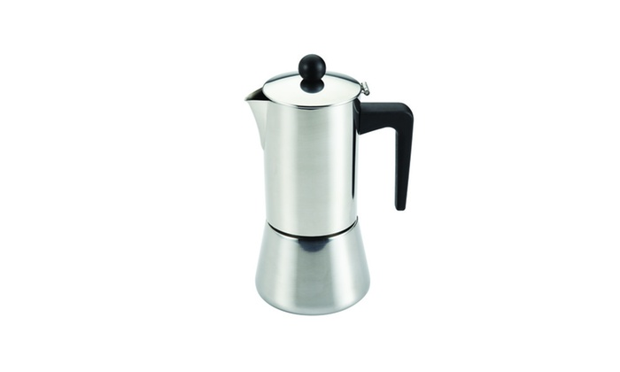 BonJour Coffee Stainless Steel 6-Cup Stovetop Espresso Maker Groupon