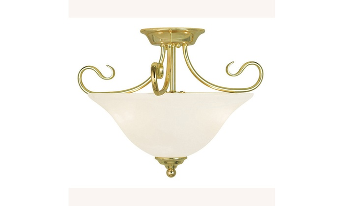 Coronado 2-Light Polished Brass Flush Mount