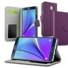 Galaxy Note 5 Case, by Insten Purple PU Wallet Case Cover w/ Card Slot