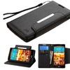 Insten Leather Fabric Case stand card holder For LG Magna Volt 2 Black