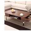 Sadie Contemporary 2-Drawer Walnut Coffee Table
