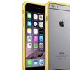 Insten Clear Yellow TPU Bumper Skin Case Aluminum Button iPhone 6 Plus