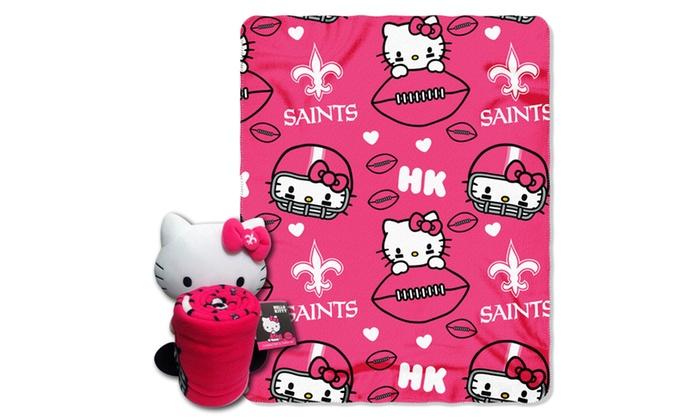 027 Saints Hello Kitty  with Throw