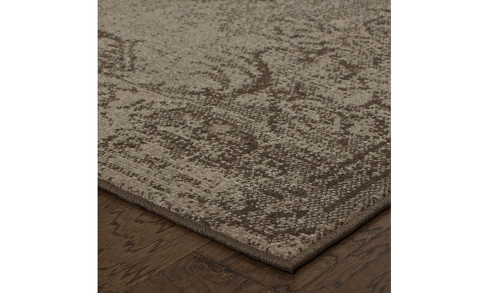 Monarch Alessa Tan Brown Distressed Area Rug Groupon