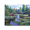 David Lloyd Glover Summer Waterlillies Canvas Print