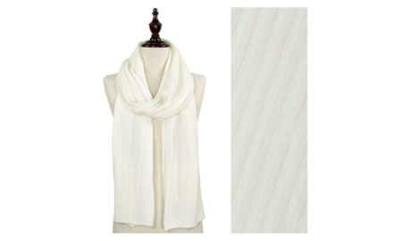 Soft Solid Rib Knit Onlong Scarf
