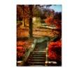 Lois Bryan Autumn Stairway Canvas Print