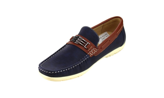 AD12 Men's Slip On Moccasin Perforated Flat Heel Loafers