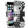 Insten White Checkered Star Slim Hybrid Case Cover For iPhone 6 Plus