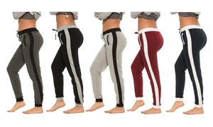 Women's Sweatpants with Side Stripe (5-Pack)