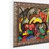 Franz Marc 'Three Horses 1912' Ornate Framed Art