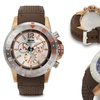 Brandt And Hoffman Chronograph Forsyth Men's Watch Brown/Rose Gold