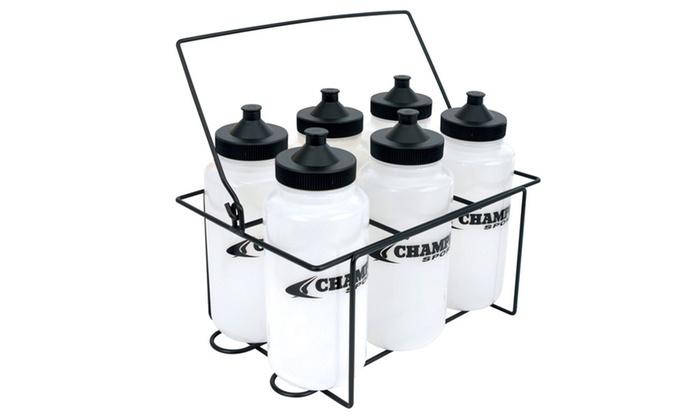 Champro Water Bottle Carrier Set w/6 - 1 liter bottles