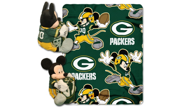 COB 038 Packers Mickey Hugger with Throw