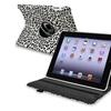 Insten 360-Swivel Leather Case For iPad 2 3 4, White Black Leopard