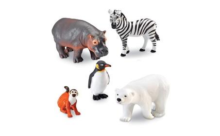 Learning Resources Ler0788 Jumbo Zoo Animals 5-Set 3cc68995-c739-483f-9e89-113e54da039c