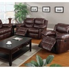 Kozani Recliner Motion Sofa Set Upholstered In Padded Leatherette