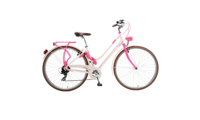 Lombardo Sirmeone L City Bicycle, 700c, 17″ frame, Pink, 99% Assembled