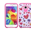Insten Heart Hard Hybrid Case For Samsung Galaxy Core Prime Hot Pink