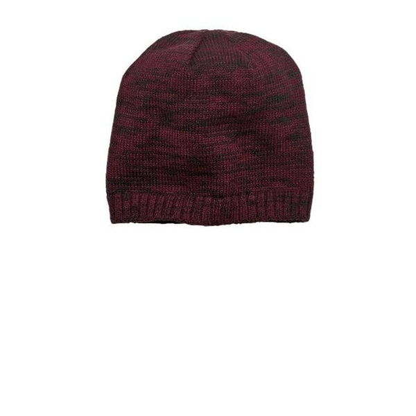 7efd113b500 District DT620 Spaced-Dyed Beanie Maroon   Black - One Size