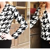 Black & White Houndstooth Blazer