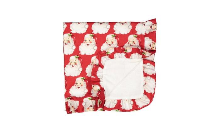 Roskingham Road Stroller Blanket Vintage Santa Christmas Collection