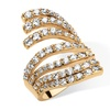 2.74 TCW Cubic Zirconia Multi-Row Fashion Ring 18k Gold-Plated